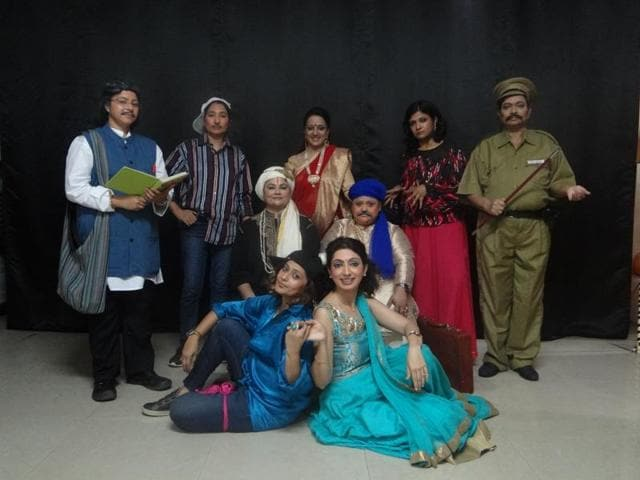 Moms Theatre Group of Gurgaon rehearses of the play Tartuffe.