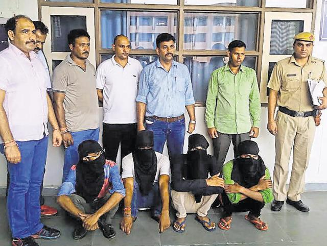 The suspects, residents of Mohammadpur village close to Dhingeri village in Tauru, 45km from Gurgaon, were arrested after a police team zeroed down on their identities and location after four days of probe.