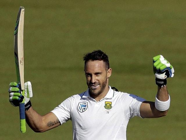 Du Plessis toiled hard for his fifth Test century.