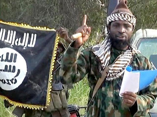 A screengrab of Boko Haram leader Abubakar Shekau from a video released by the Nigerian Islamist group. The Nigerian president Buhari said on August 28, 2016, that Shekau has been 'wounded' in an air strike on Boko Haram's forest stronghold.