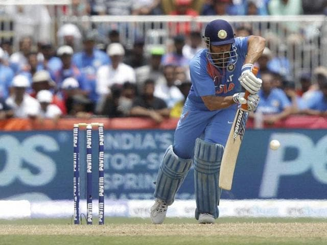 Lauderhill : India's MS Dhoni bats during the first Twenty20 international cricket match against the West Indies, Saturday, Aug. 27, 2016, in Lauderhill, Fla.AP/PTI(AP8_27_2016_000293A)