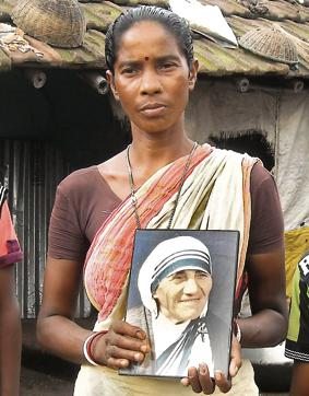 A file photo of Monica Besra at her village in West Bengal(Kallol Majumder/HT Photo)