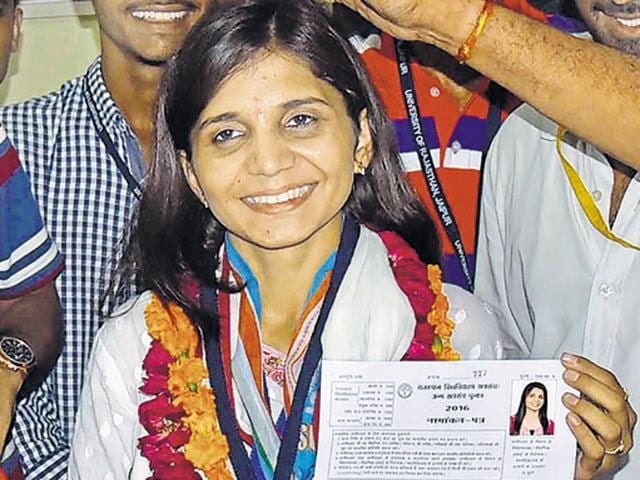 NSUI's Trishla Choudhary is the lone woman fighting for the post of president.