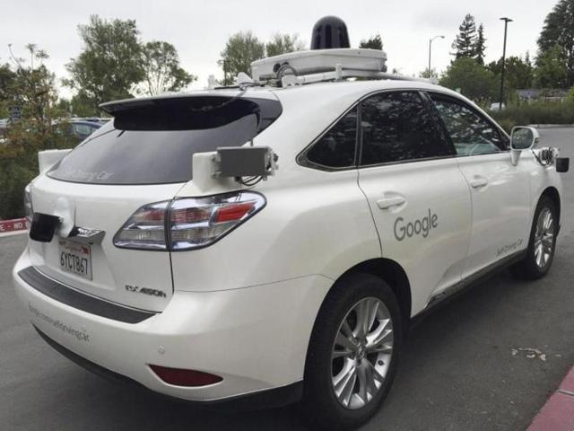 File photo of a Google self-driving car