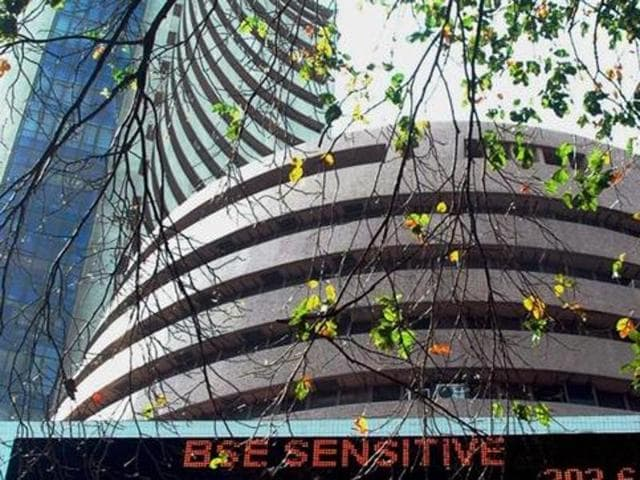 Bombay Stock Exchange building in Mumbai.