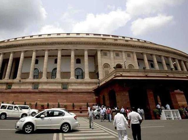 File photo of the Parliament building in New Delhi.