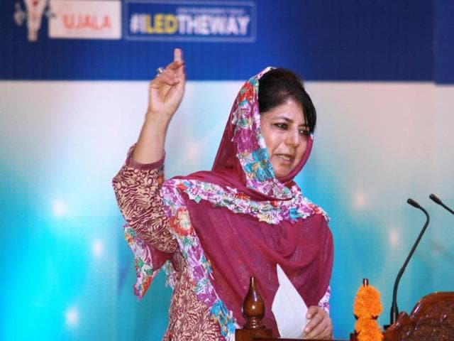Jammu & Kashmir chief minister Mehbooba Mufti during a  function in Jammu, on Sunday, August 28, 2016.
