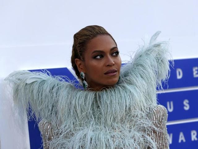 Singer Beyonce arrives at the 2016 MTV Video Music Awards in New York.
