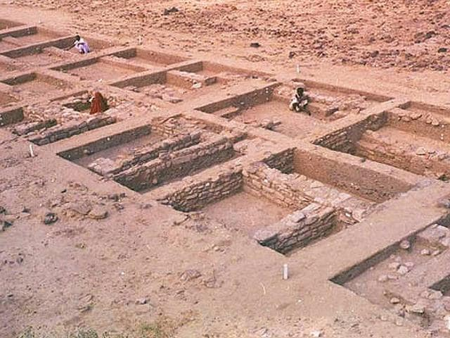 Dholavira is a site of an ancient metropolitan town of the Harappan period.