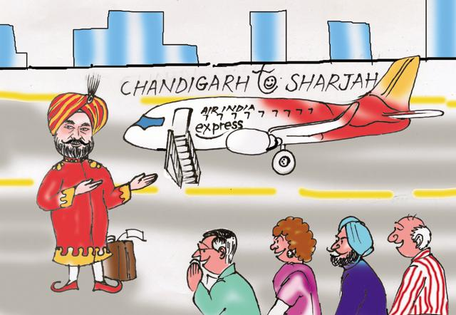 Chandigarh's first int'l flight will take Sukhbir & Co to Gulf, at your expense