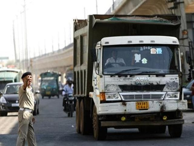These commercial vehicles include school buses, tourist buses, goods carriers, trucks, besides taxis among others.(HT File Photo)