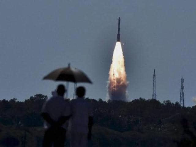 PSLV-C34 set a record in July by launching 20 satellites, with a combined weight of 1,288 kg including ISRO's 728 kg Cartosat-2 from its rocketport at Sriharikota in Andhra Pradesh, about 80 km north-east of Chennai.