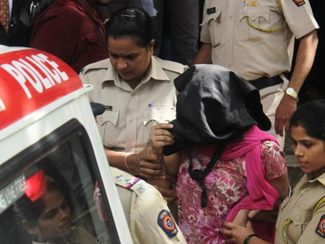 The accused being taken to a Bandra court on Monday