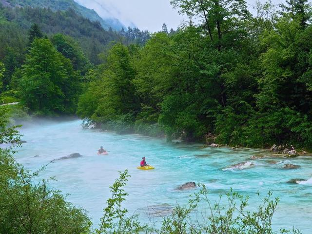 Rafting on the Soca River, Slovenia