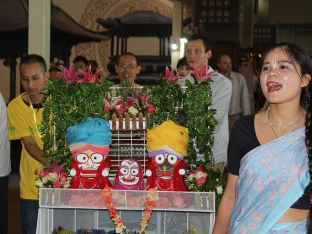 Last week, a large number of devotees celebrated Krishna Janmashtami, the day that marks his birth, across China.