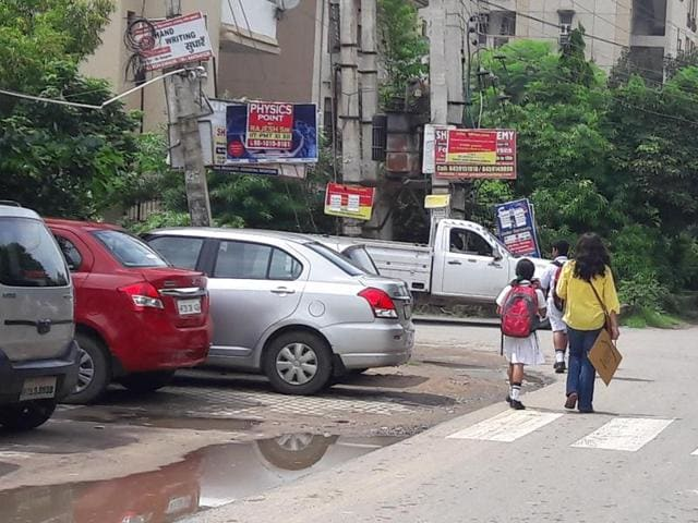 Delhi Public School in Sector 45 (above) and other schools tweaked dispersal timings on Wednesday after reports of heavy waterlogging and traffic jams in Gurgaon.