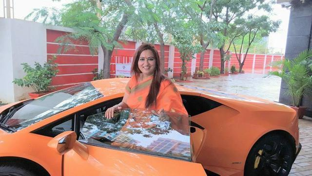 BJP MLA Narendra Mehta's wife Suman rammed the luxurry car into an auto rickshaw  on the first ride