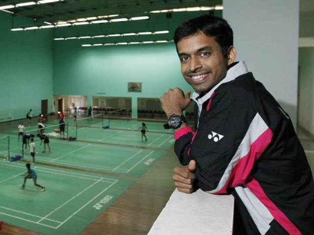 Olympic silver medalist shuttler P.V. Sindhu with her coach Pullela Gopichand.