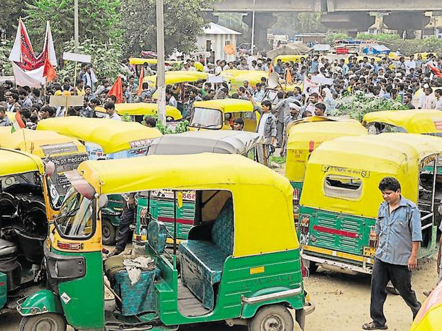 The two-day strike was called to protest against police action on auto-rickshaw drivers.