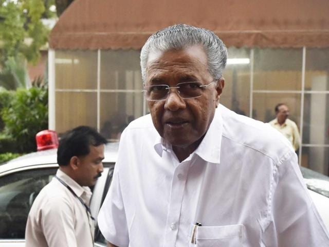 Kerala chief minister Pinarayi Vijayan is in favour of development and technology. But every now and then the communist leader in Vijayan towers over the chief minister he is.