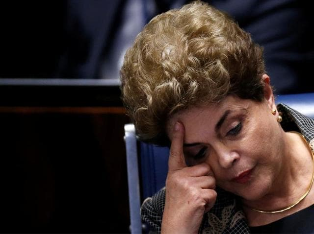 Senators voted 61-20 to convict Dilma Rousseff for illegally using money from state banks to boost public spending