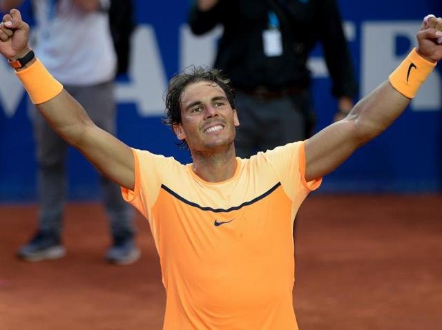 Rafael Nadal now has nine titles at the French Open, Monte Carlo and the Barcelona Open.