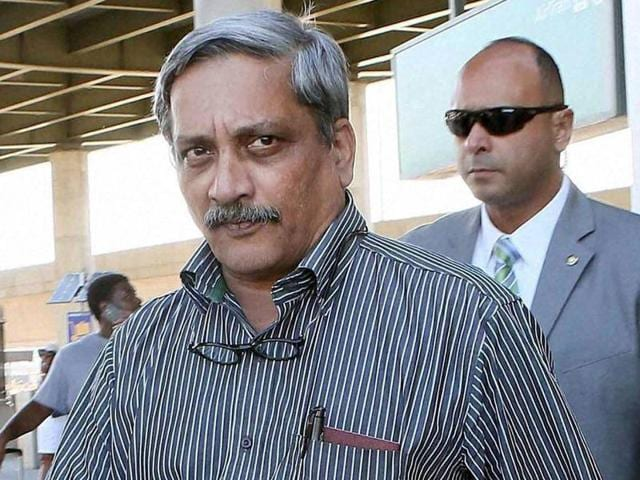 """File photo of defence minister Manohar Parrikar. Subhash Velingkar has accused the defence minister of """"cheating the Hindus""""."""