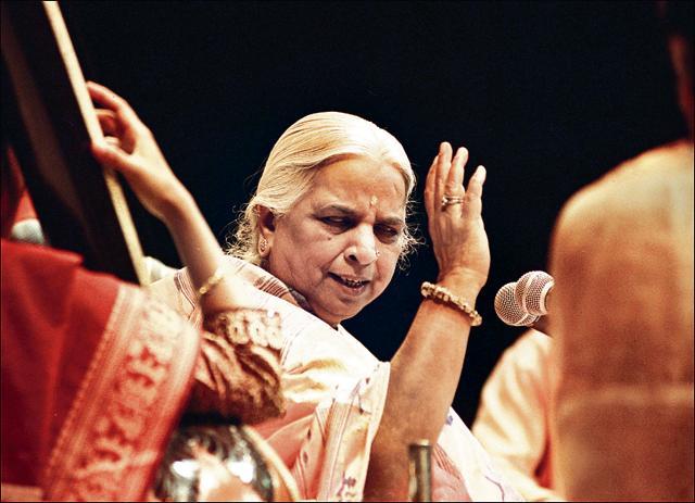 Girija Devi of the Banaras gharana, is considered the Queen of Thumri.(Pradeep Bhatia/Hindustan Times)