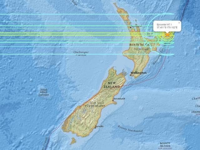 A major earthquake of magnitude 7.1 struck off the coast of New Zealand on Friday, Sep 1, 2016, the US Geological Survey said.
