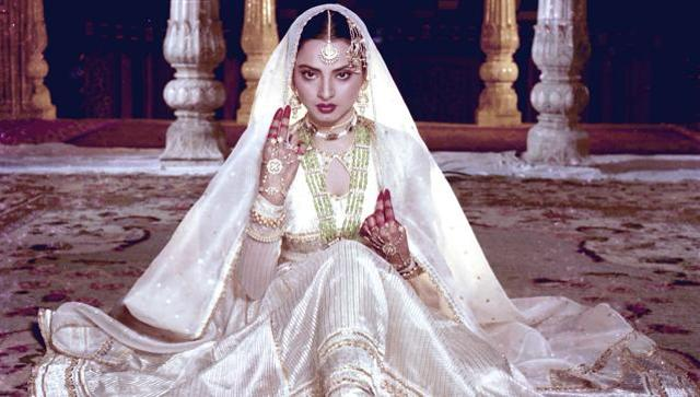 Rekha in and as Umrao Jaan (1981), for which she won the National Award for best actress.