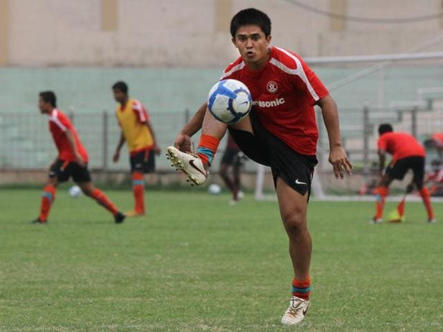 Sunil Chhetri believes leading by example is the best way to make an impression on the youngsters in the squad.