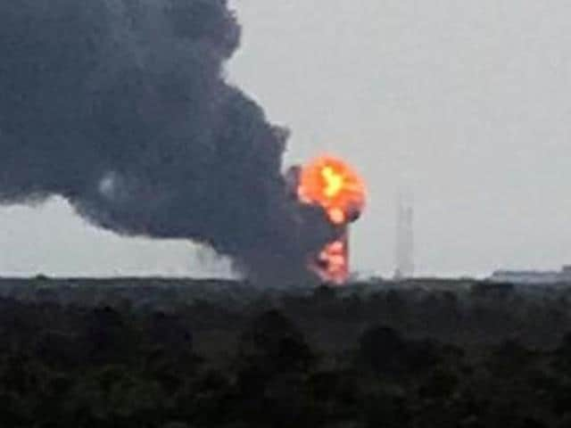SpaceX's Falcon 9 rocket exploded on the launch pad in Cape Canaveral, Florida, on September 1, 2016.