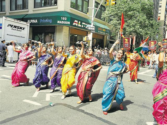 Indian Americans clelebrate Independence Day, in New York, August 22