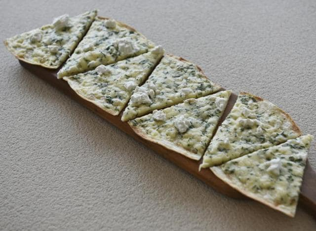Four cheese flatbread at Asilo