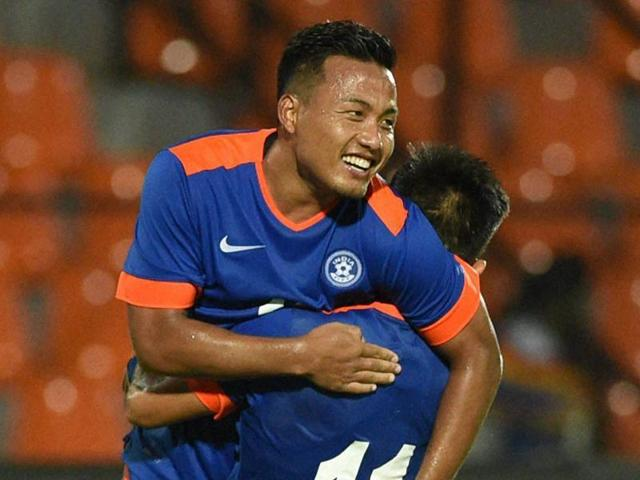 India recovered from an early setback to pump in four goals against higher-ranked Puerto Rico as international football returned to Mumbai after over six decades.