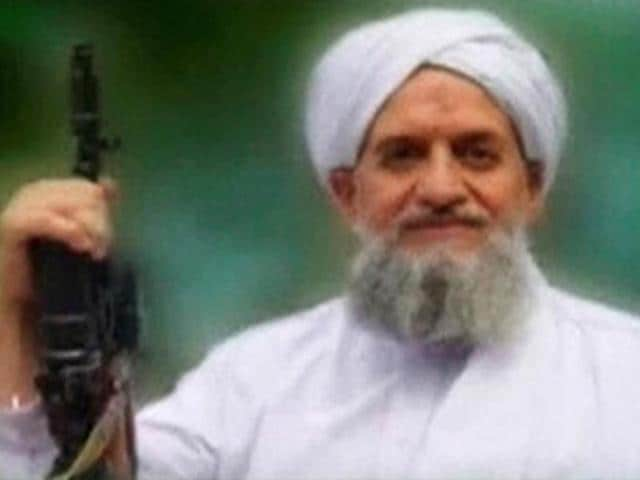 The report claimed that al Qaeda chief Zawahiri's (pictured above) daughters -- Fatimah and Umayma, and a third woman were released weeks ago in exchange for the son of Kayani.