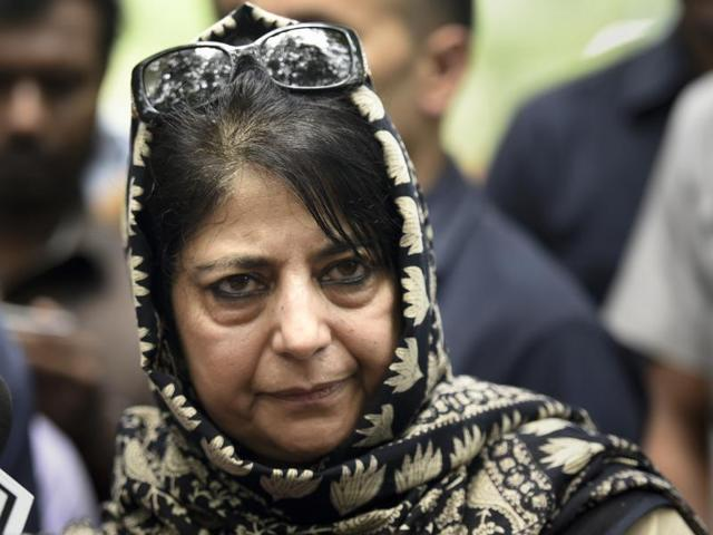 File photo of Jammu and Kashmir Chief Minister Mehbooba Mufti. She wrote to separatist leaders on Saturday, asking them to take part in the all-party delegation reaching Srinagar on Sep 4, 2016.