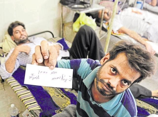 As patients outnumber beds at Amritsar's Guru Nanak Dev Hospital, they have to take cots at Rs 50 per day rent, besides a security deposit of Rs 1,000, from a nearby vendor.