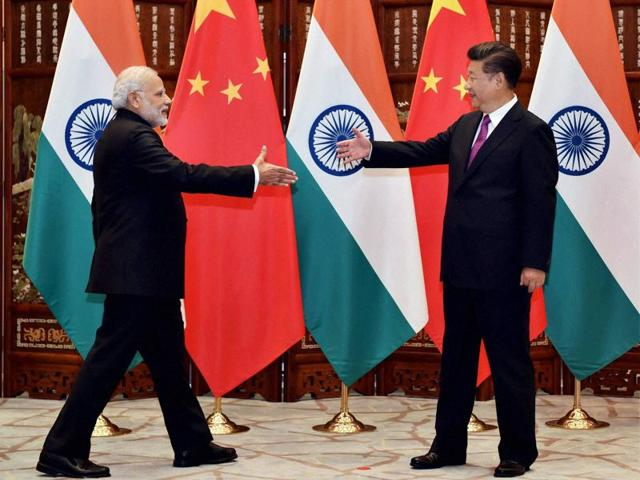 Prime Minister Narendra Modi with Chinese President, Xi Jinping during a bilateral meeting in Hangzhou, China on Sunday.