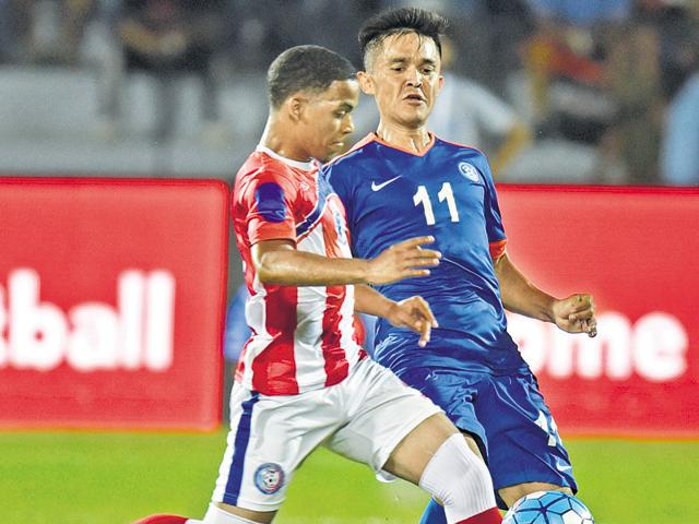 Chhetri was involved in three of India's goals, all scored in the first half.