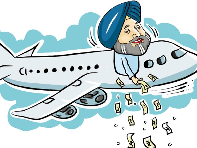 Punjab deputy chief minister Sukhbir singh Badal-led delegation's two-day round trip to Sharjah on the first international flight from Chandigarh will cost the exchequer Rs 12 lakh.