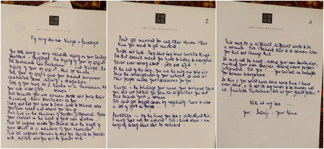 Read Amitabh Bachchan s empowering emotional letter to Aradhya