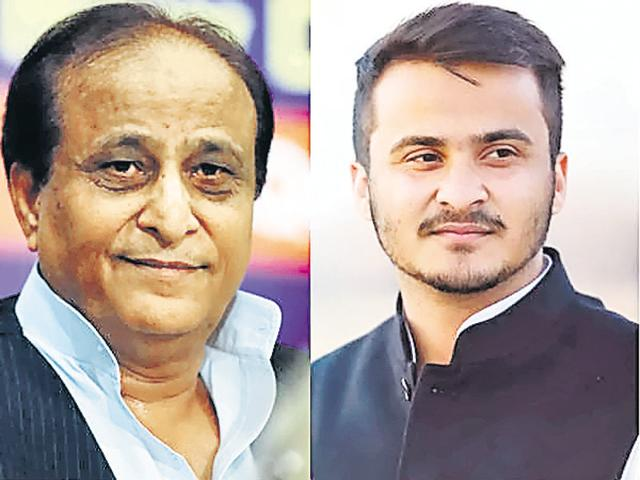 The forthcoming UP elections may see Azam's son Abdullah (right) fighting on an SP ticket.
