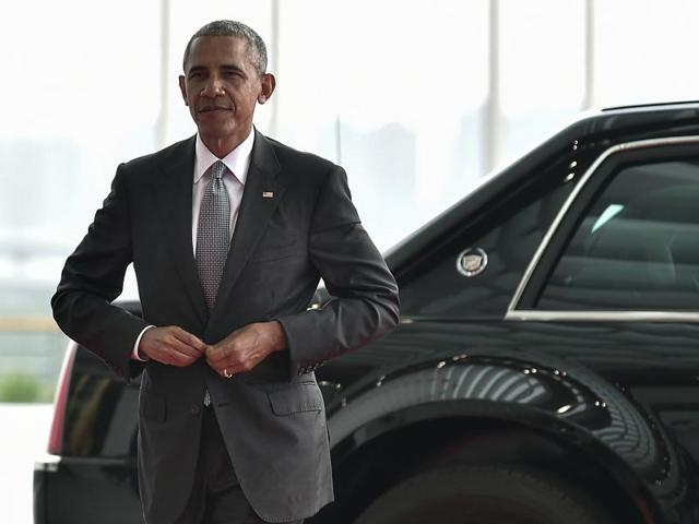 In this September 4 photo, US President Barack Obama arrives at the Hangzhou Exhibition Center to participate in G-20 Summit in Hangzhou, China.