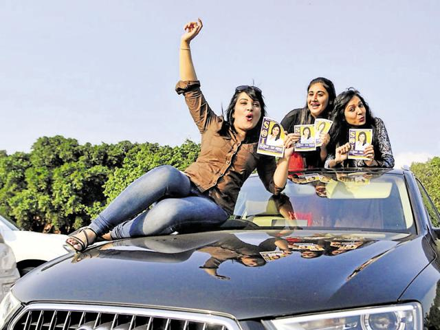 Student leaders of almost all parties flaunt high-end luxury vehicles on the campus. For them, more such vehicles in the cavalcade, the merrier it is.