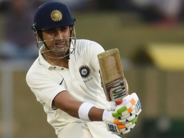 India Blue skipper Gautam Gambhir (left) and Mayank Agarwal,  who hit 161, put on a double-century stand to put their team on top on the first day of the day-night Duleep Trophy tie against India Green on Sunday.