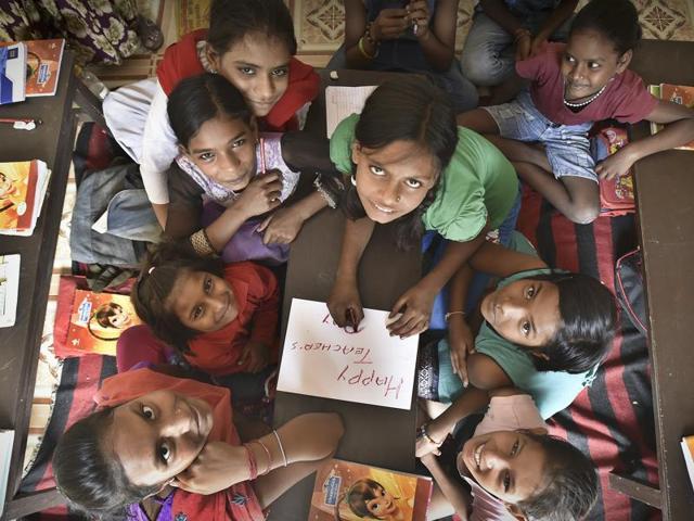 Teachers Day,Teaching the poor,Shikhar Girls School