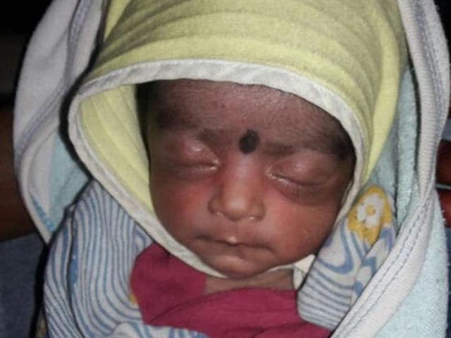 The newborn was rushed to Shatabdi hospital for a medical check-up