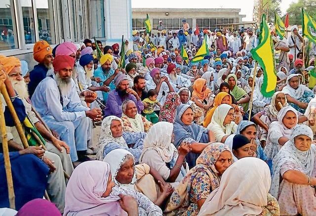 farmers' protest,protest march,Bathinda