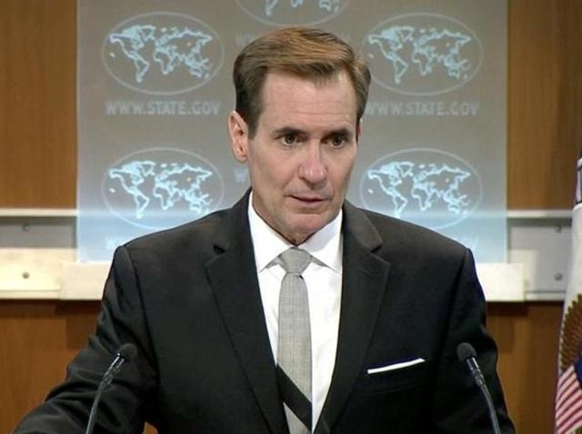 US State Department spokesman John Kirby during a press briefing in Washington DC.